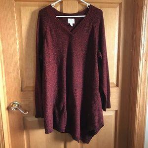 St. John's Bay, size 2X beautiful red sweater